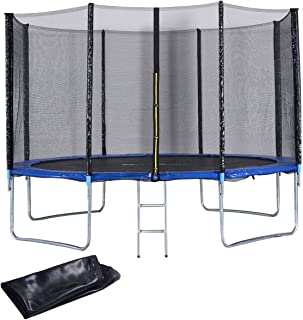medium sized trampoline with net