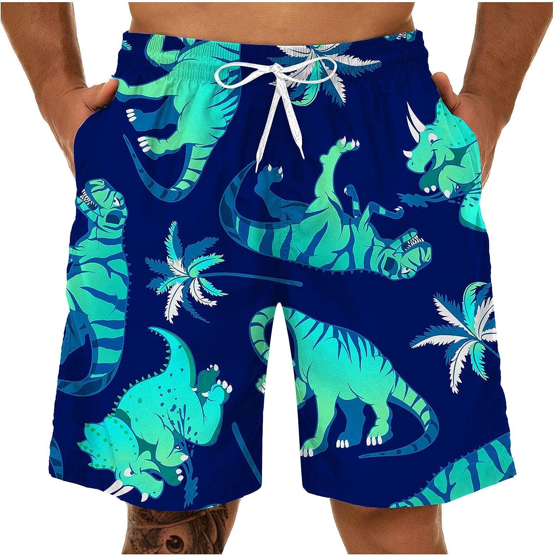 YUNDAN Men's Swim Trunks Casual Print Quick Dry Quick Dry Beach Shorts Elastic Waist Drawstring Relaxed Fit Sweatpants(a)