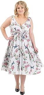 Miss Lavish London Women's Plus Size Dresses Retro Swing Rockabilly 40s and 50s Vintage Bridesmaid Dress