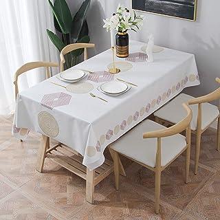 comprar comparacion Essort Rectangle Mantel para Mesa PVC Hule Mantel Cuadrado para Comedor, Impermeable y Prueba de Aceite Hexágono 137 x 185 cm