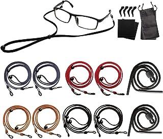 10 Pack Eyeglasses Holder Straps Cord - Leather Eyeglasses String Holder Chain - Glasses Cord Lanyard (8 GIFTS)