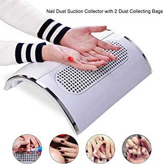 Biutee 3 Fans Powerful Nail Dust Suction Fan Collector Vacuum Cleaner Manicure Tools with 2 Dust Collecting Bags