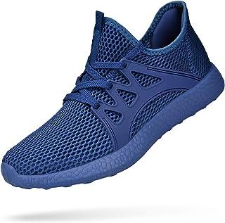 Simasoo Women Sneakers Ultra Lightweight Mesh Gym Running Walking Tennis Shoes Blue Size: 10 US