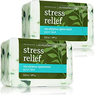 Bath & Body Works Aromatherapy Stress Relief  Eucalyptus Spearmint Body Bar,  2 Pack