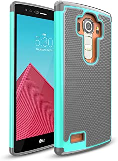 LG G4 Case,TILL(TM) [Resilient Series] Shock Absorbing Dual Layer Hybrid Rubber Plastic Impact Defender Rugged Slim Hard Case Cover Shell For LG G4 H810 H811 LS991 US991 VS986 All Carriers - Turquoise