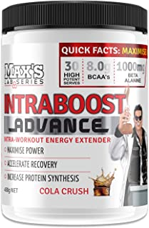 Max's Lab Series Intraboost Advance Intra Workout BCAA Powder, Cola Crush, 450g