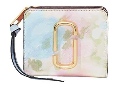 Marc Jacobs Snapshot Watercolor Mini Compact Wallet (Pink Multi) Wallet Handbags