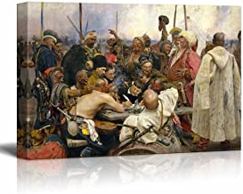 wall26 - Reply of The Zaporozhian Cossacks to Sultan Mehmed IV of The Ottoman Turkey Empire by Ilya Repin - Canvas Print Wall Art Famous Painting Reproduction - 32