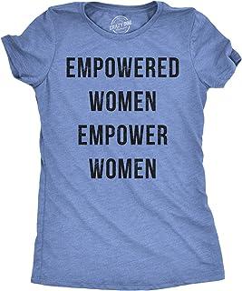 Crazy Dog T-Shirts Womens Empowered Women Empower Women T-Shirt Cool Feminism Girl Power Tee