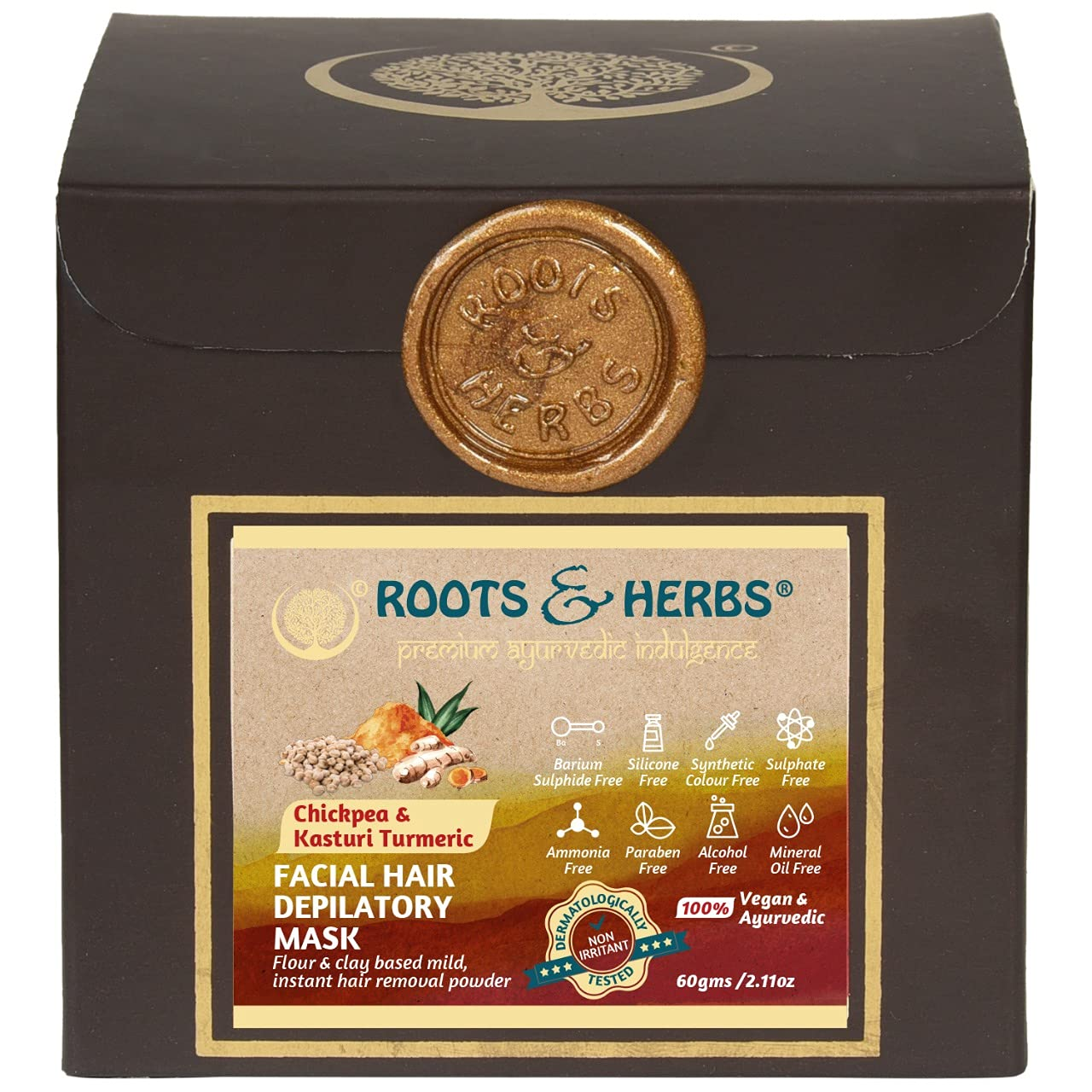 ROOTS AND Classic Tampa Mall HERBS Chickpea And Hair Kasturi Turmeric Remova Facial