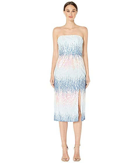 ML Monique Lhuillier Ombre Sequins Midi Dress