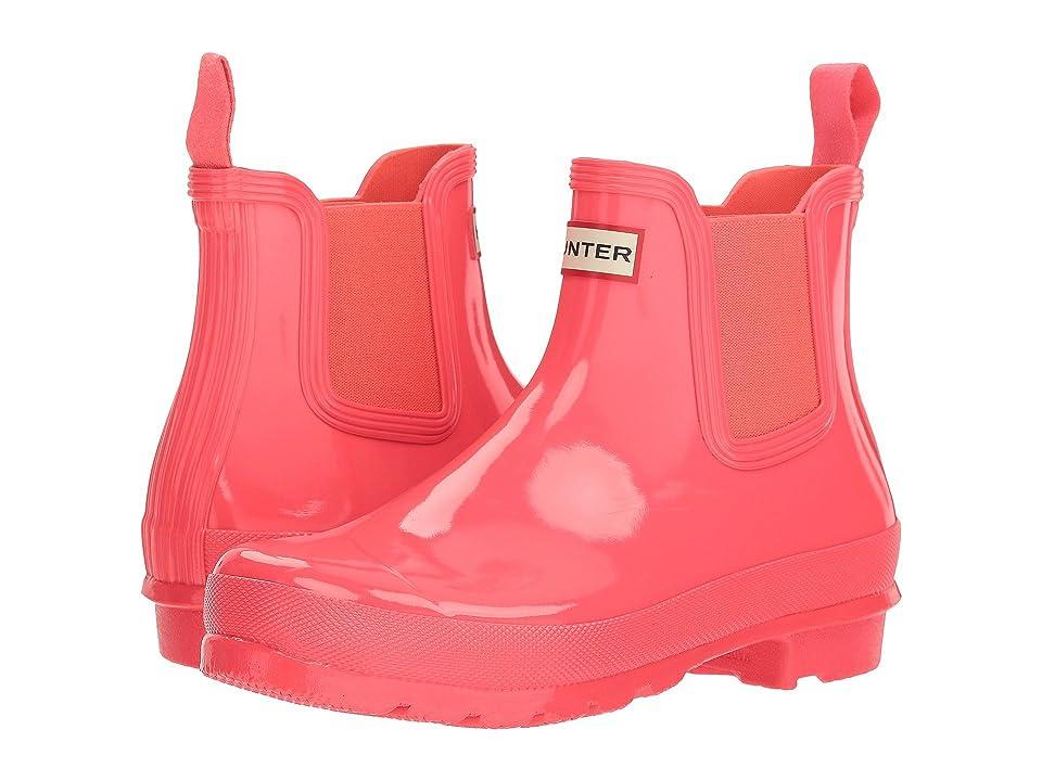 Hunter Original Chelsea Boots Gloss (Hyper Pink) Women