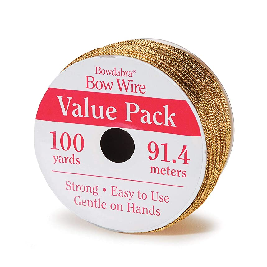 Bulk Buy: Darice DIY Crafts Bowdabra Bow Wire Gold 100 yard Value Pack (3-Pack) BOW3050