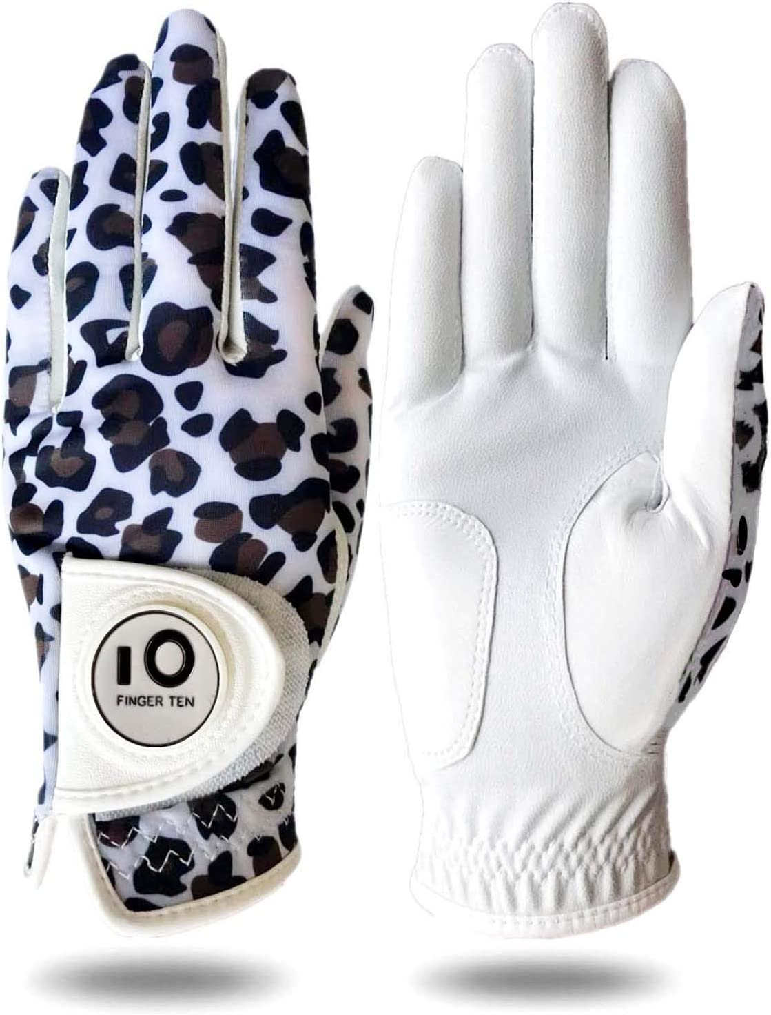 Womens Golf All stores are sold Glove with Ball Marker It is very popular Leather Right Rain Left Hand
