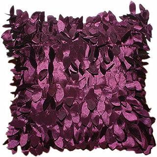 Auwer 18x18 Retro Vintage Leaf Petal Christmas Throw Pillow Case Cover Decorative Art Square Pillowcase Cushion (Purple)