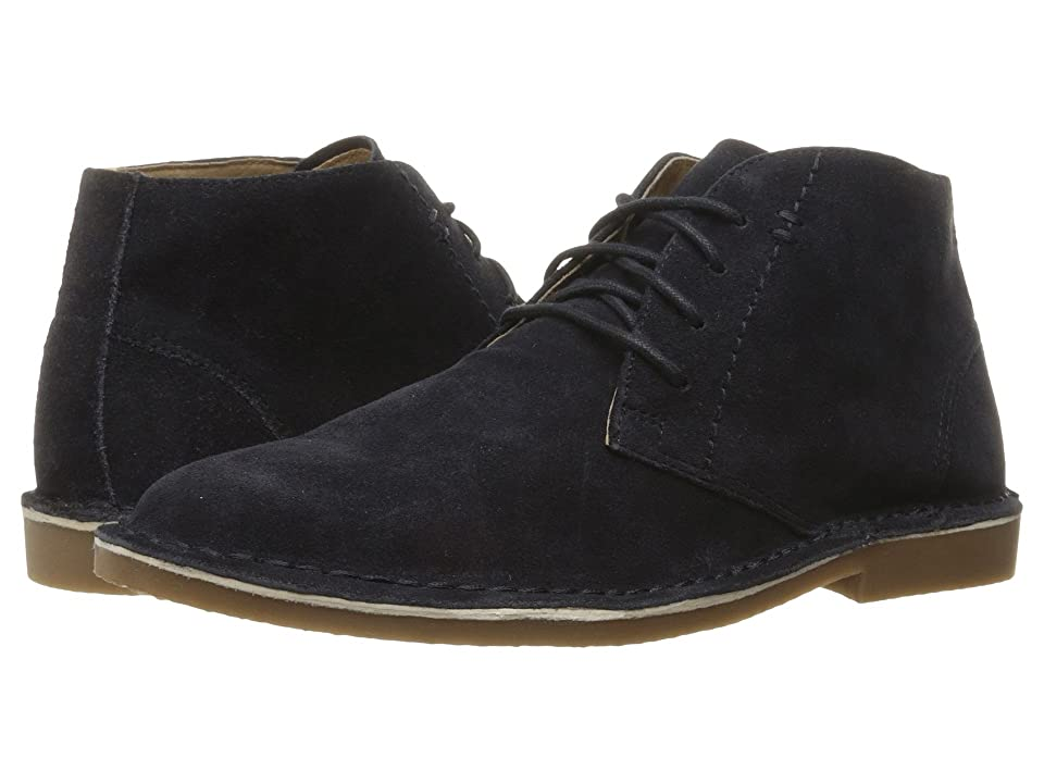 Nunn Bush Galloway Plain Toe Chukka Boot (Navy) Men's Lace up casual Shoes