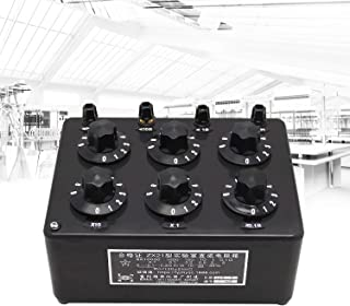 NEWTRY ZX21 Decade Resistance Box Adjustable Lab Rotary Resistor Substitution Box Precision DC Variable Knob Switch 0 to 99.9999KR 0.25W