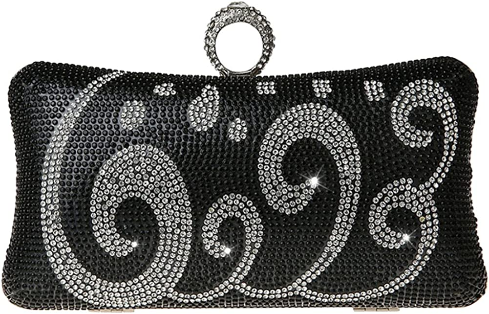 Tortor 1Bacha Rhinestone Graphic Wedding Evening Handbag Party Clutch Wallet
