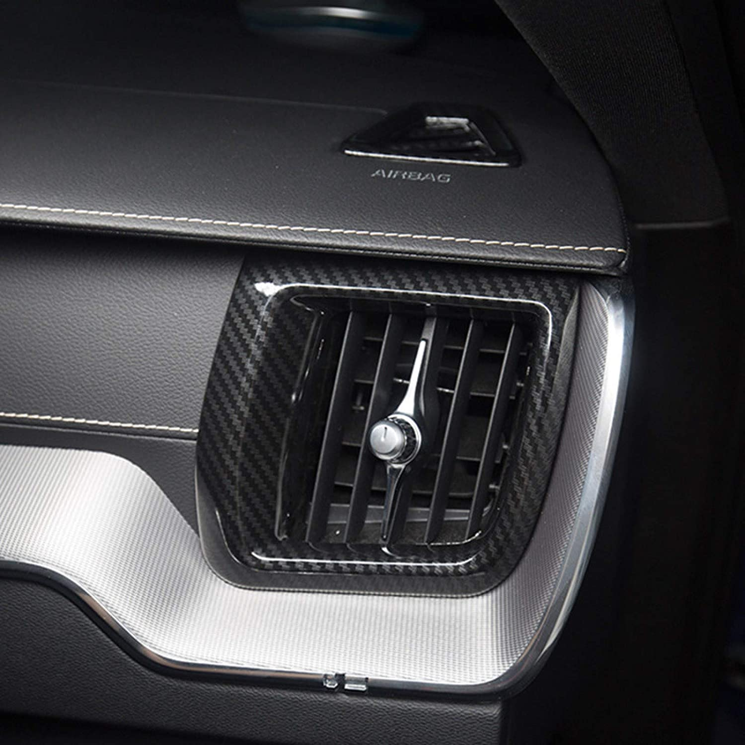 JIERS for Volvo Max 82% OFF XC60 2018 Carbon ABS Plastic Style free shipping Air Co Fiber