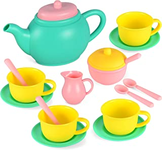 JOYIN Pretend Play Tea Party Set Play Food Accessories BPA Free Phthalates Free (Colors May Vary)