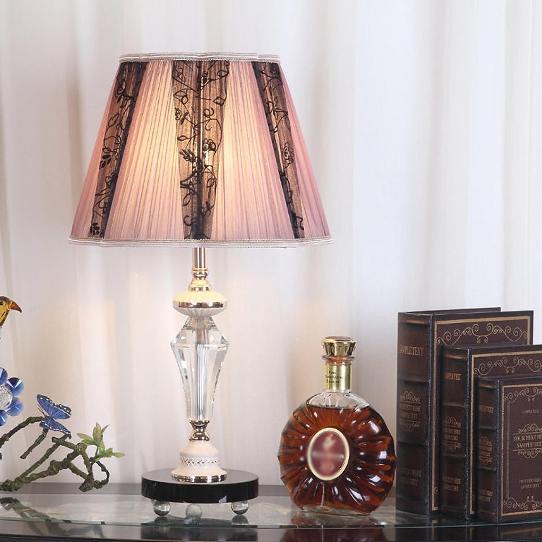 Hyun times Schlafzimmer Kristall Lampe Bedside Lace Tischleuchte Stoff Einfache Moderne Schlafzimmer Lampe Warm Und Romantisch B074DV8W4H       Feine Verarbeitung