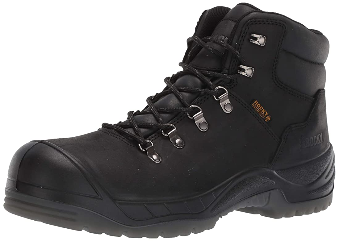 牧草地間違っている感謝するRocky WorkSmart Composite Toe Waterproof Work Boot Black