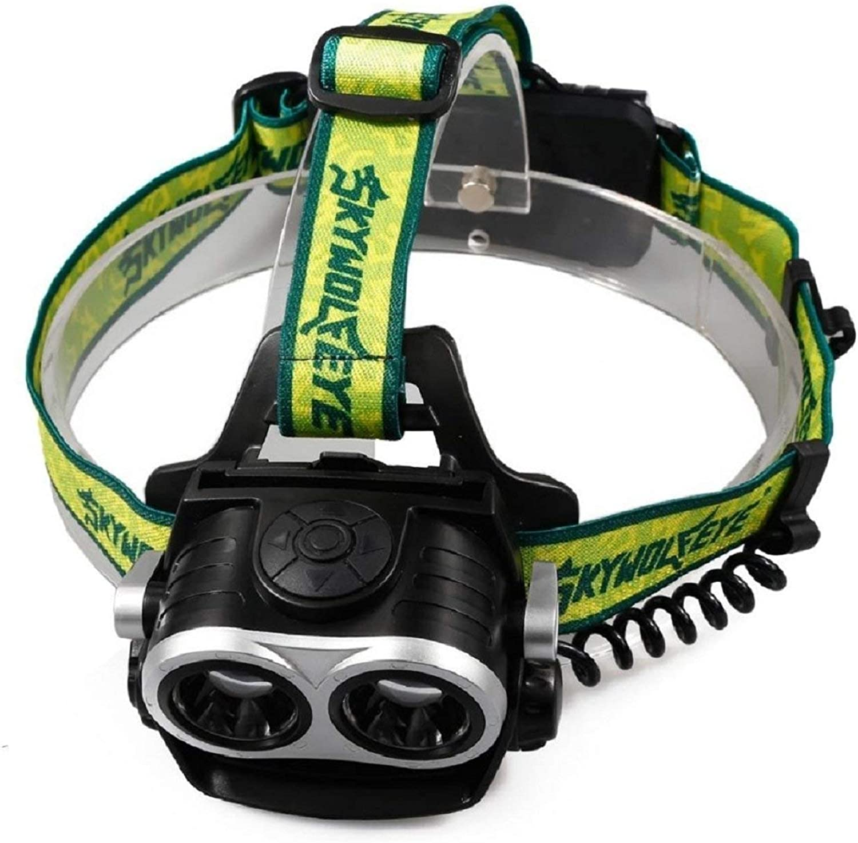 XSWZAQ HeadMounted Zoom Charging Headlight LED Headlight Glare Searchlight Running, Cycling, Dog Walking, Fishing, Hiking