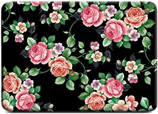 Floral Rose Pattern Rubber Coated Hard Shell Case Cover macbook retina