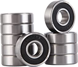 XiKe 10 Pcs 6000-2RS Double Rubber Seal Bearings 10x26x8mm, Pre-Lubricated and Stable Performance and Cost Effective, Deep Groove Ball Bearings.