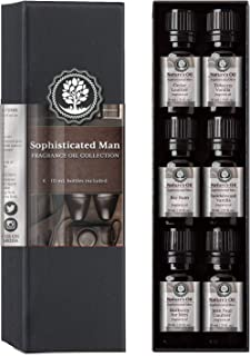 Sophisticated Man Fragrance Oil Set Top 6 Mens 10ml for Cologne, Beard Oil, Diffuser Oils, Making Soap, Candles, Lotion, H...