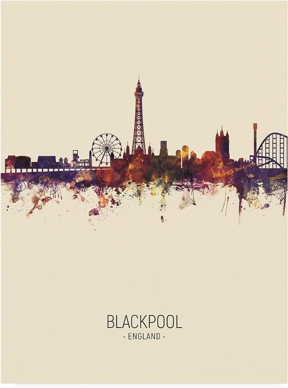 Trademark Fine Art Blackpool England Skyline Portrait III