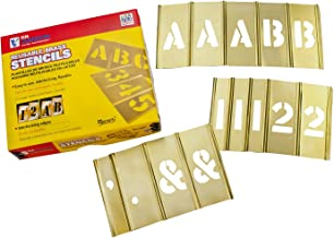 CH Hanson 10154 4 inch Messing Letters & Nummer Set 92 pc