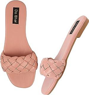 Do Bhai Women Open Back Solid Flats Sandals