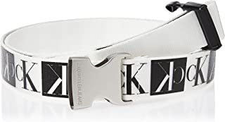 Calvin Klein Women's J PLAQUE CANVAS BELT 3CM Belt