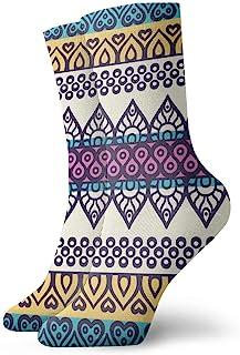 Luxury Calcetines de Deporte Geometric Fringes Symmetric Unisex Funny Art 3D Print Casual Crew Socks Athletic Crew Socks