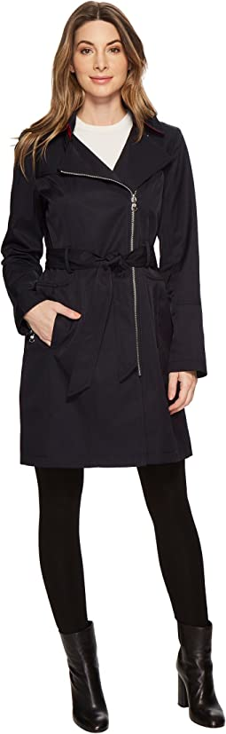 Asymmetrical Belted Trench