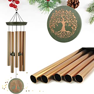 """ASTARIN Wind Chimes Outdoor Deep Tone,36""""Large Memorial Wind Chimes Amazing Grace with 5 Tuned Metal Tubes,Sympathy Wind C..."""