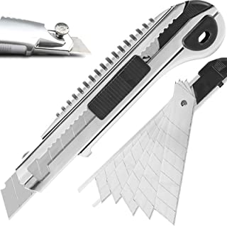 DOWELL Utility Knife Retractable Utility Knife Box Cutters Heavy Duty with 5PCS Extra Blades,Self Loading Blades Function,...