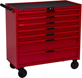 Teng Tools 7 Drawer 37 Inch Wide Heavy Duty Roller Cabinet Tool Chest/Wagon - TCW207N