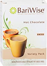 BariWise High Protein Hot Cocoa - Instant Low-Carb, Low Calorie Hot Chocolate Mix with 15g Protein - Variety Pack (7 Count)