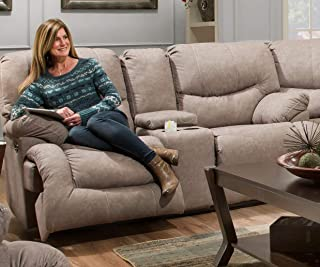 Simmons Upholstery Double Motion Loveseat, Smoke