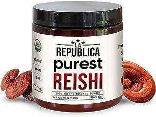 La Republica Reishi Mushroom Powder (120 Servings), No Mycelium or Fillers, USDA Organic Reishi Extract, Fa...
