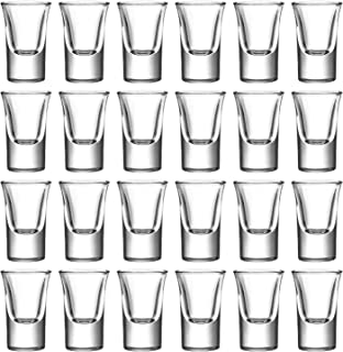 1.2oz / 35ml Shot Glass Set with Heavy Base, Clear Shot Gl for Whiskey, Vodka and Liqueurs, Set of 24