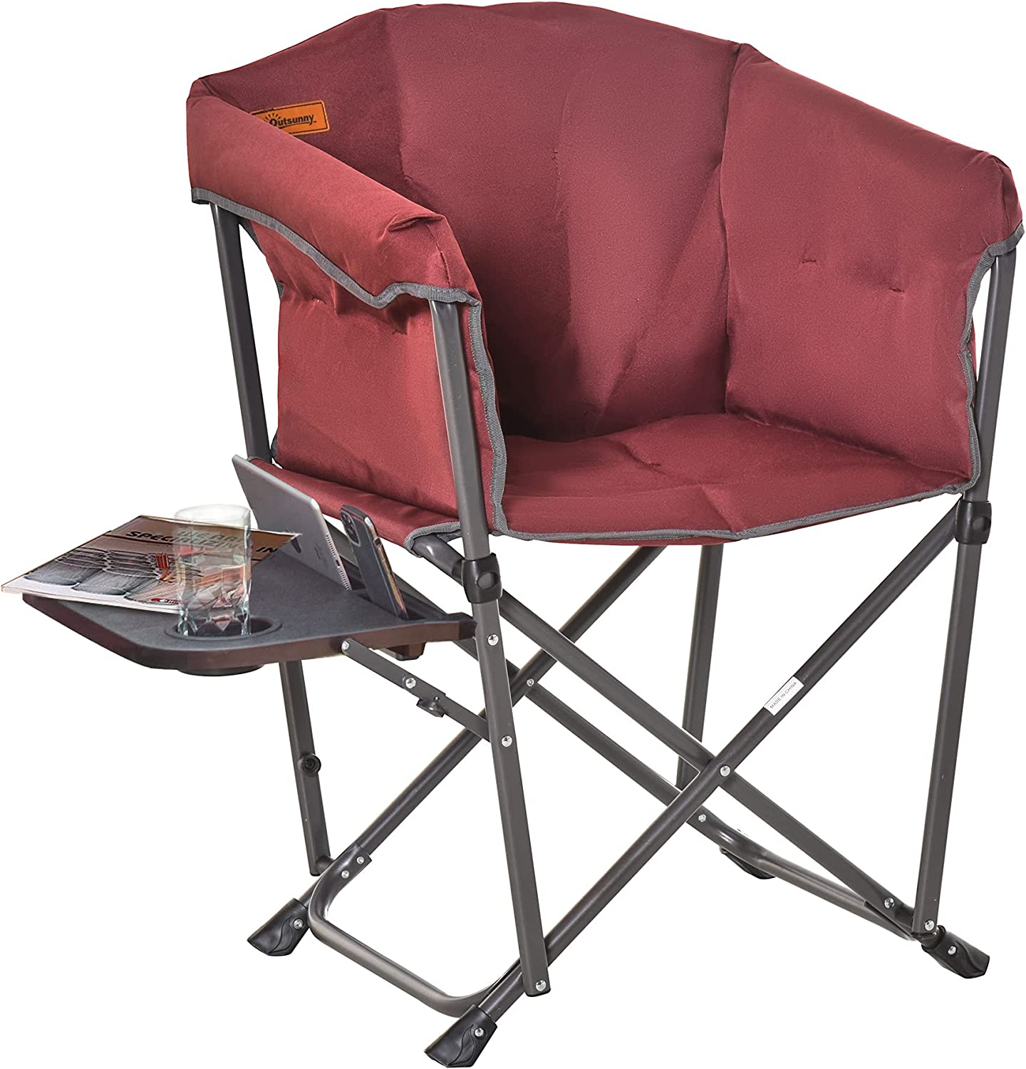 Outsunny Folding Camping Dedication Chair with Sale special price Thick Side Padded Table Ou