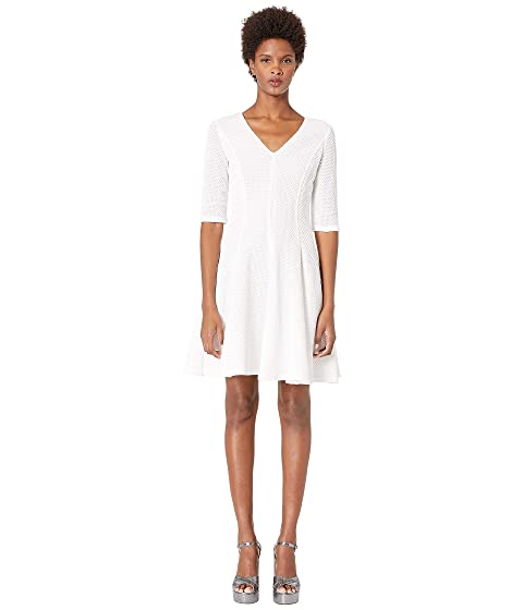 Boutique Moschino Quarter Sleeve Fit and Flare Dress