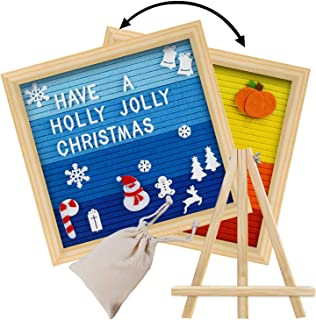 Double Sided Letter Board with 450 White Letters,Months & Days & Extra Cursive Words, Wall & Tabletop Display, Letter Bag, Write a Holidays Message for Thanksgiving & Christmas