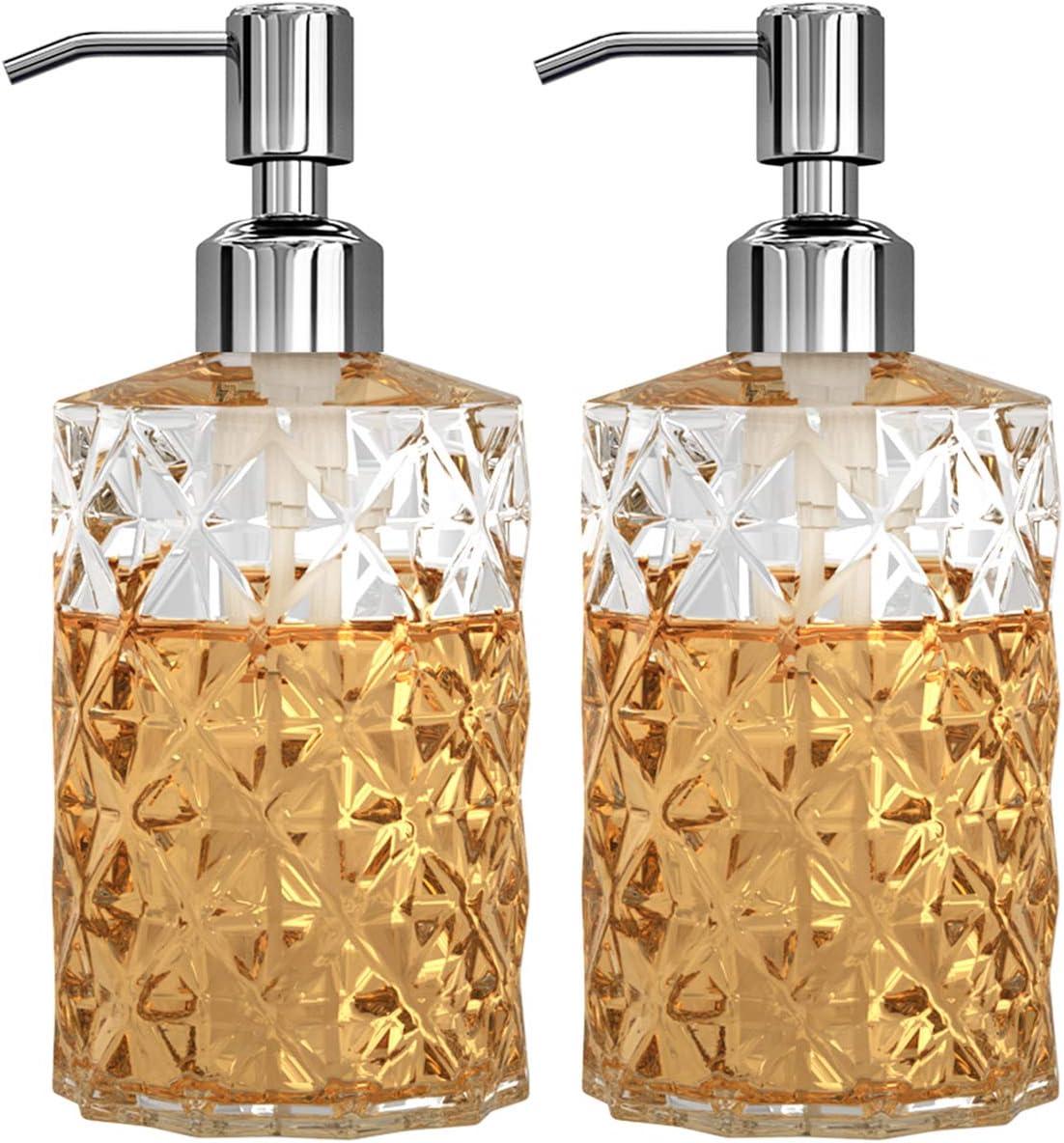 GLADPURE Soap Dispenser - 2 Pack Diamond Clear Design 12 Latest item Popular shop is the lowest price challenge Oz Gla