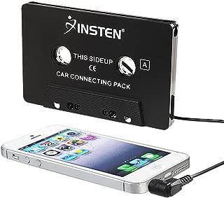 Insten Universal Car Audio Cassette Adapter Compatible with 8/Huawei Google Nexus 6P/LG Google Nexus 5X/ Samsung S9/S9+ 9 Plus/S8/S8+/S6/S6 Edge 4/HTC One M7, Black
