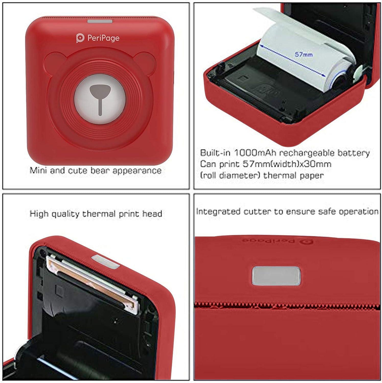 6865 Thermal Portable Bluetooth Printer 58mm Mini Wireless POS ...