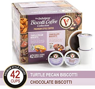 Victor Allens The Indulgent Biscotti Premium Style Coffee, Turtle Pecan & Chocolate, 42 Count (Pack of 1)